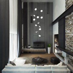 Pictures Of Grey Living Room Walls Florida Furniture 40 Rooms That Help Your Lounge Look Effortlessly Stylish 32