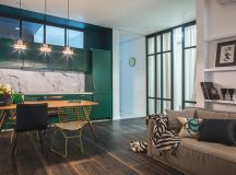 Green and Gold Interior With Modern Eclectic Vibe ...