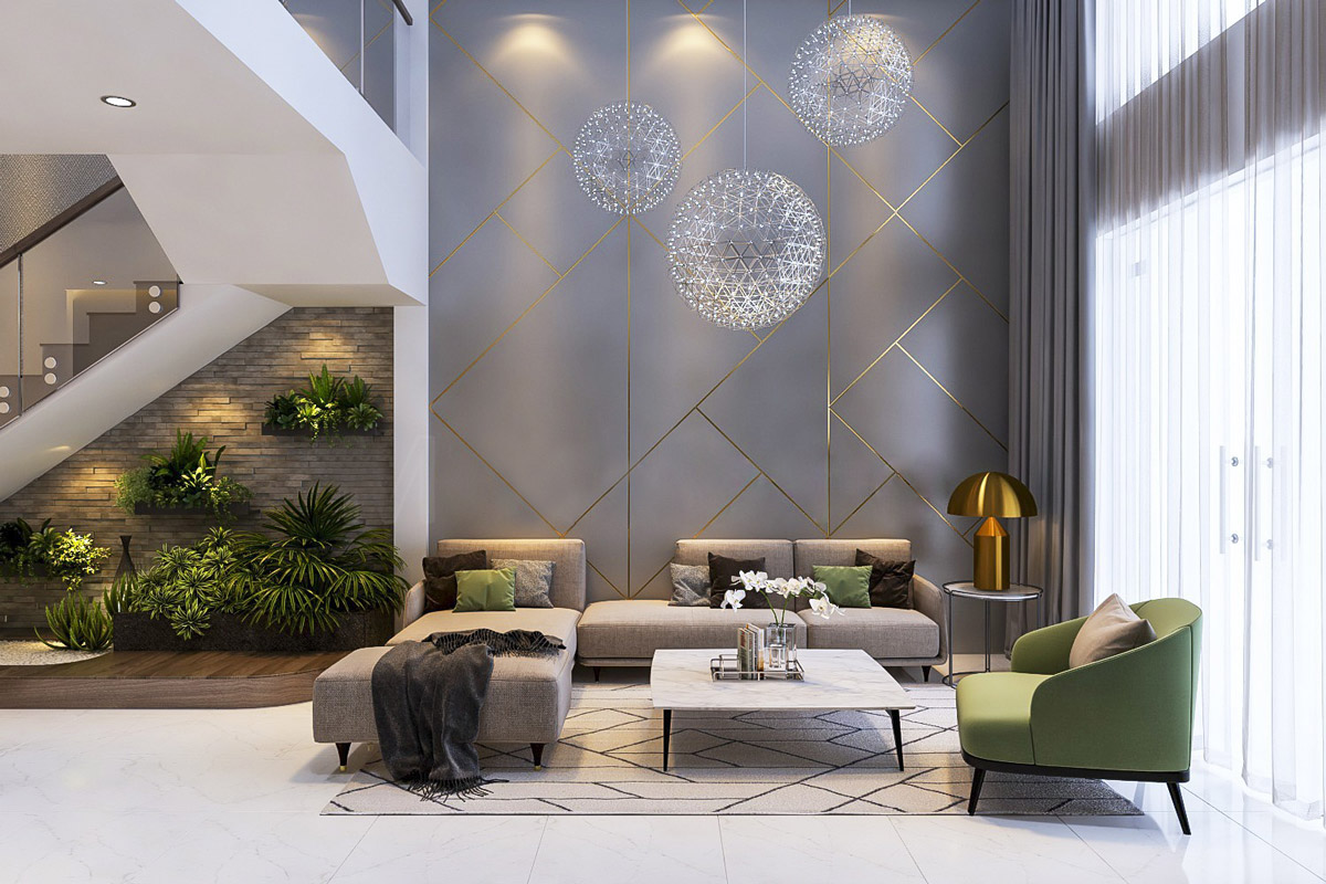 gold and grey living room ideas bamboo furniture 40 rooms that help your lounge look effortlessly stylish understated