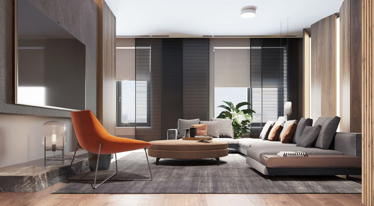 orange living room designs gray rooms with brown furniture 40 grey that help your lounge look effortlessly stylish 23 visualizer hotwalls