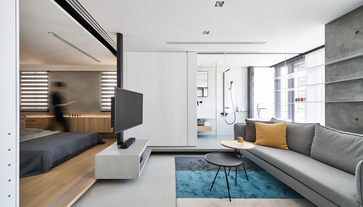 True Open Plan Apartment Under 50 Square Meters 500 Square Feet With Floor Plan Bailey Street Design