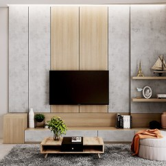 Tv Wall Unit Design For Living Room Ideas Grey Sofa 50 To Decorate The You Hang Your On 10
