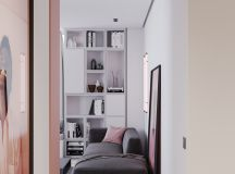 A Striking Example Of Interior Design Using Pink And Grey images 1