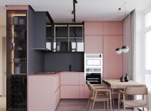 A Striking Example Of Interior Design Using Pink And Grey images 6