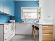 Scandinavian Style Interior With Pink And Blue Accents images 23