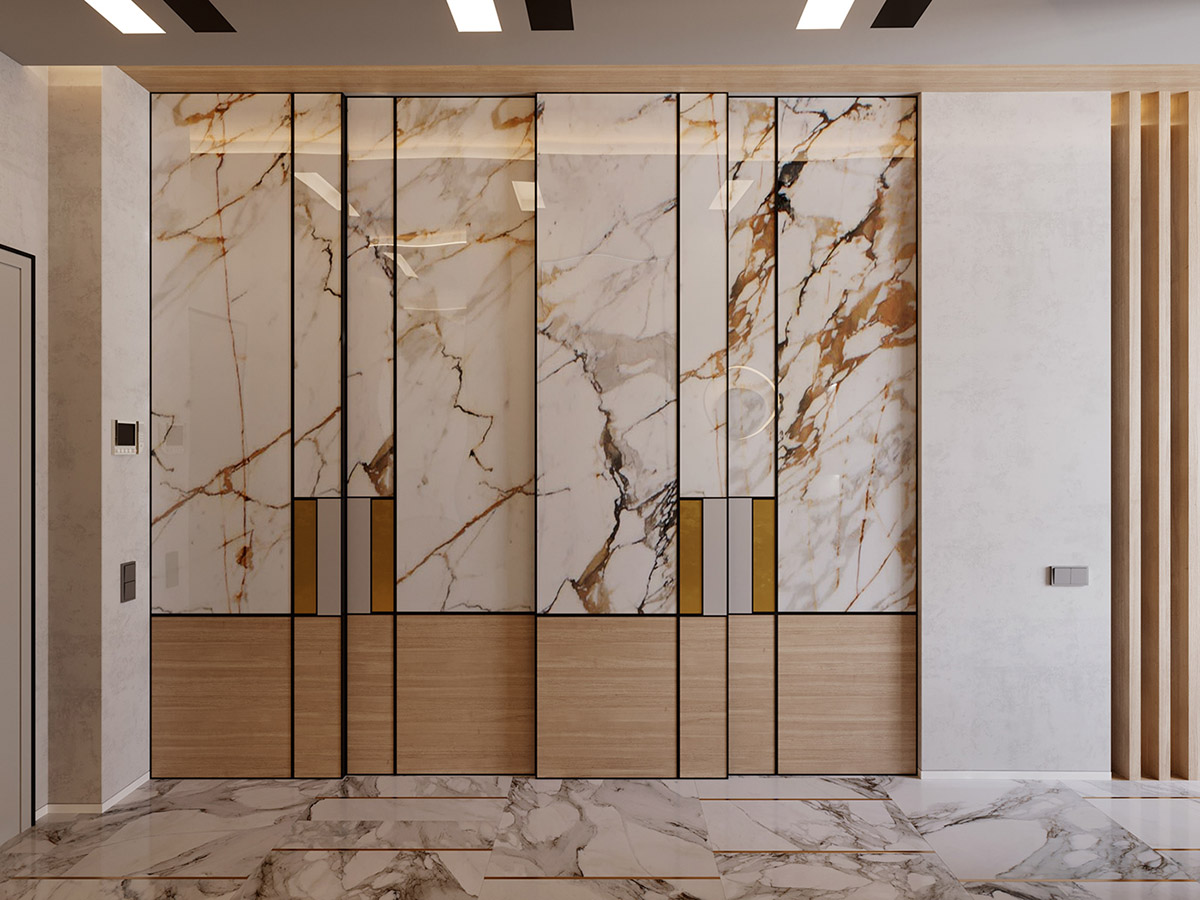 Interior Design Using Marble And Wood Combinations