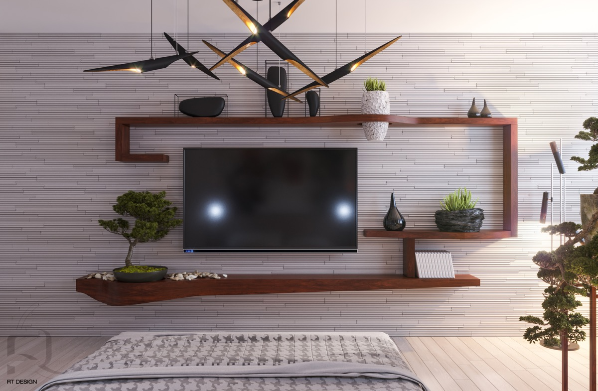 10 Ideas To Decorate The Wall You Hang Your TV On
