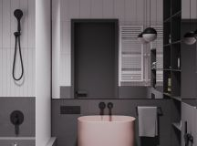 A Striking Example Of Interior Design Using Pink And Grey images 15