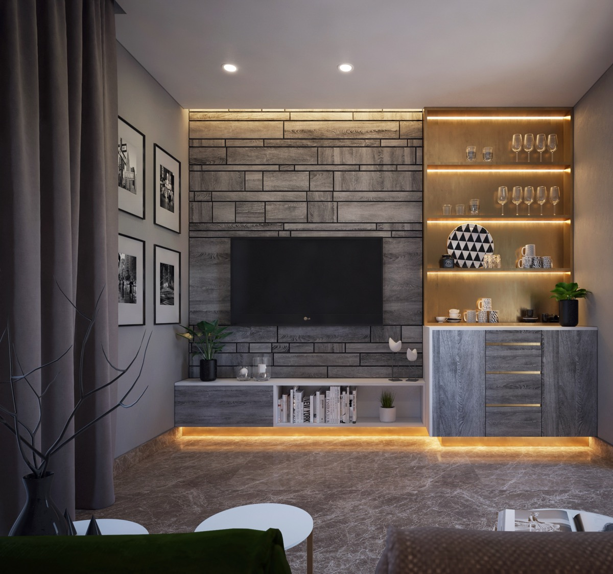 Image result for TV with bookcases around above