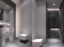 36 Modern Grey & White Bathrooms That Relax Mind Body & Soul images 20