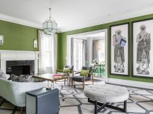 30 Gorgeous Green Living Rooms And Tips For Accessorizing Them images 5