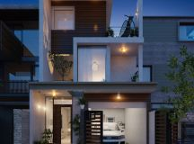 50 Narrow Lot Houses That Transform A Skinny Exterior Into Something Special images 29