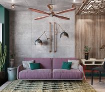 Copper-swing-arm-wall-lamps-210x185 Three Industrial Style Lofts WIth Natural Accents Upholstery in Victoria