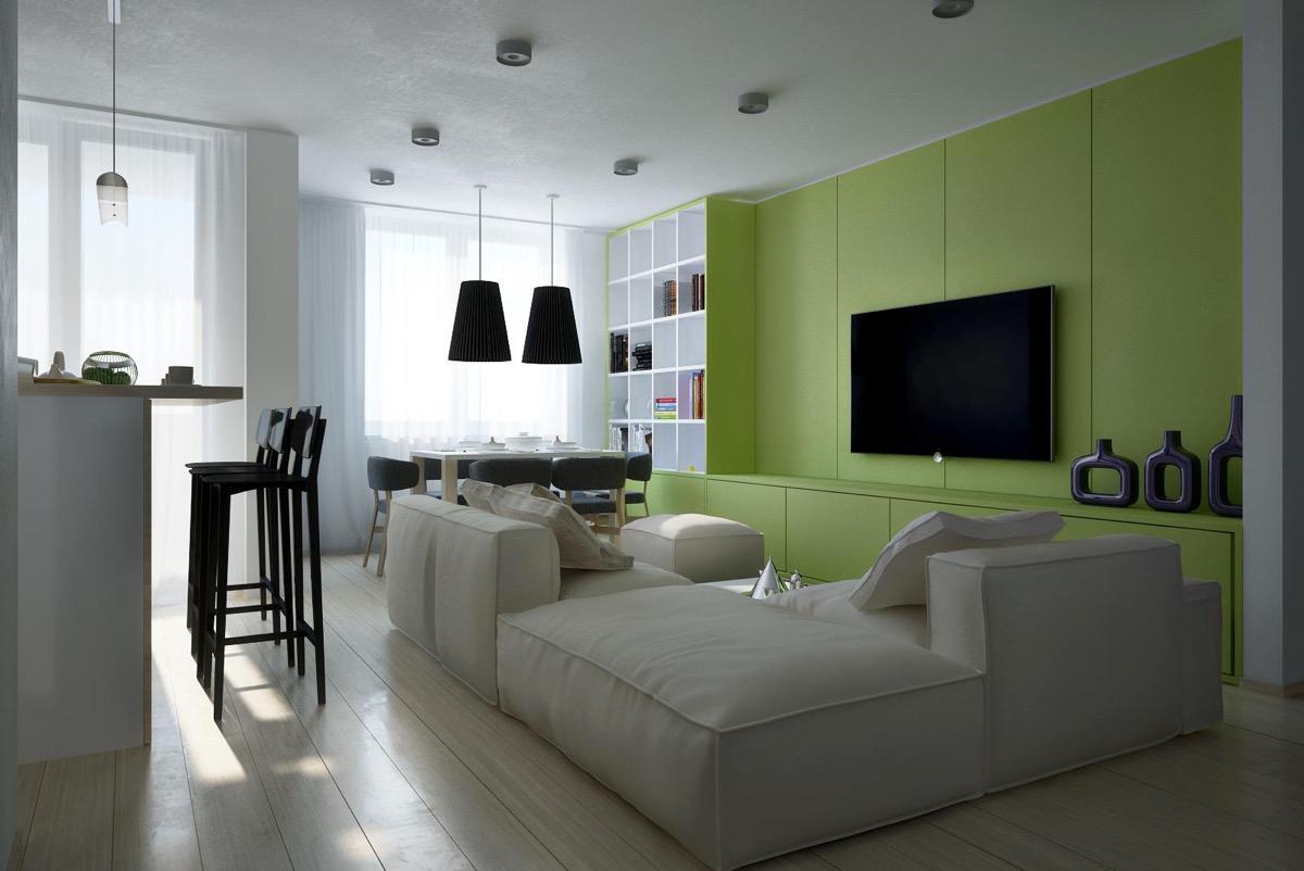 Light Green Wall Interior Novocom Top