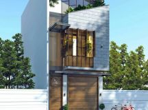 50 Narrow Lot Houses That Transform A Skinny Exterior Into Something Special images 19