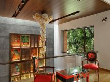 A Colour Rich Indian Home With Concrete Architecture And Interiors images 10