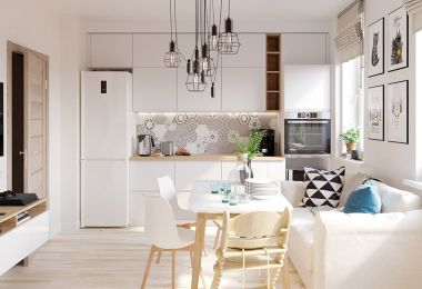 4 Bright & Cheerful Interiors That Use White & Wood To Good Effect