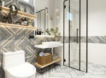 36 Modern Grey & White Bathrooms That Relax Mind Body & Soul images 9