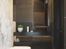 36 Modern Grey & White Bathrooms That Relax Mind Body & Soul images 14