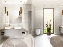 36 Modern Grey & White Bathrooms That Relax Mind Body & Soul images 10