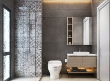 36 Modern Grey & White Bathrooms That Relax Mind Body & Soul images 18