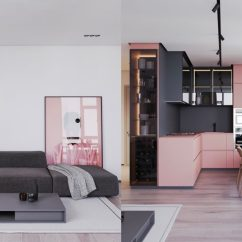Luxury Apartment Living Room Ideas Ceiling Design Gallery A Striking Example Of Interior Using Pink & Grey