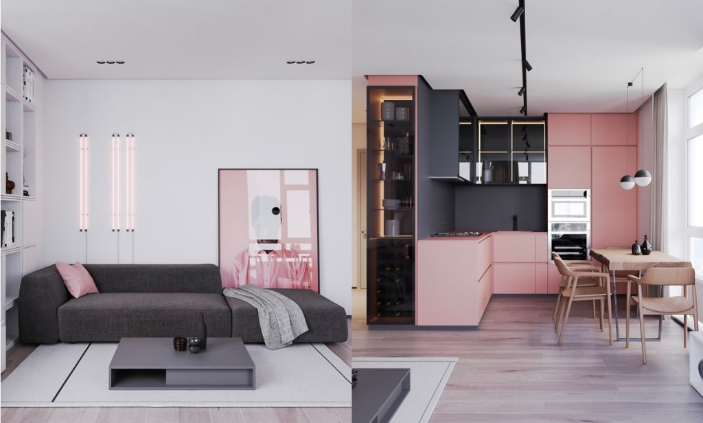 Pink Interior Design A Striking Example Of Interior Design Using Pink & Grey