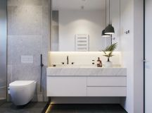 36 Modern Grey & White Bathrooms That Relax Mind Body & Soul images 1