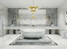 36 Modern Grey & White Bathrooms That Relax Mind Body ...