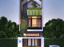 50 Narrow Lot Houses That Transform A Skinny Exterior Into Something Special images 8