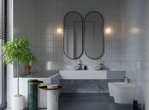 36 Modern Grey & White Bathrooms That Relax Mind Body & Soul images 0