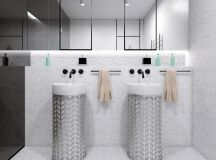 36 Modern Grey & White Bathrooms That Relax Mind Body & Soul images 29