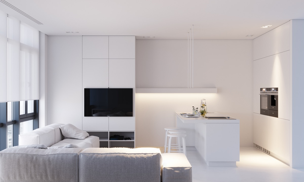 all white interior design