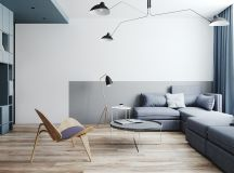 Two Small Apartments: A Blue Oasis of Minimalist Living images 10