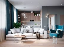 Grey Based Decor With Warming Accent Colours images 0
