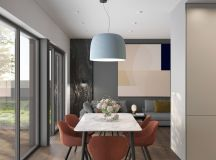 Grey Based Decor With Warming Accent Colours images 8