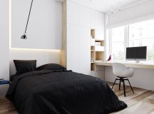 Two Small Apartments: A Blue Oasis of Minimalist Living images 19