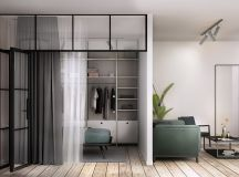 3 Open Plan Interiors With Glass Wall Bedrooms images 1