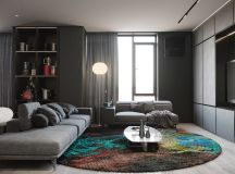 Grey Based Decor With Warming Accent Colours images 19