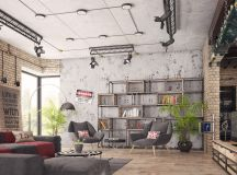 Four Types of Industrial Style Decor images 29