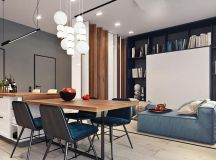 Two Small Apartments: A Blue Oasis of Minimalist Living images 1