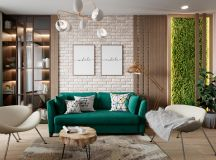 Scandinavian Style Interior Infused With Garden Greenery images 0