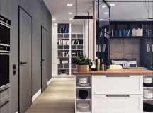 Two Small Apartments: A Blue Oasis of Minimalist Living images 7