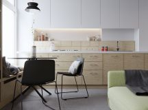 50 Wonderful One Wall Kitchens And Tips You Can Use From Them images 38