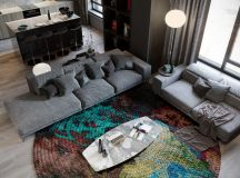 Grey Based Decor With Warming Accent Colours images 20
