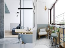 Two Small Apartments: A Blue Oasis of Minimalist Living images 16