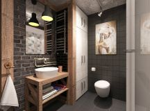 51 Industrial Style Bathrooms Plus Ideas & Accessories You Can Copy From Them images 48