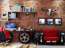 33 Inspiring Industrial Style Home Offices That Sport Beautiful Workspaces images 16