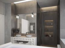 51 Industrial Style Bathrooms Plus Ideas & Accessories You Can Copy From Them images 27