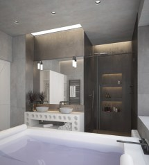 Small Industrial Bathroom Design Ideas